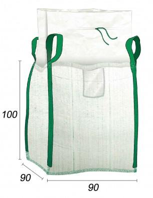 Big Bag Vacío Residuos de jardín - 90X90X100