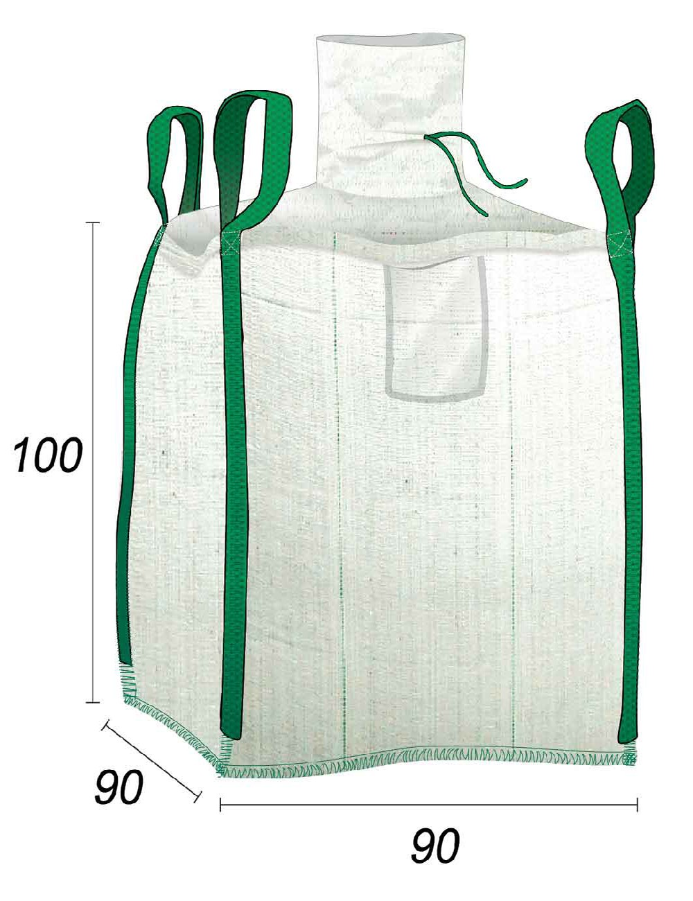 Big Bag Gravados de obras - 90X90X100