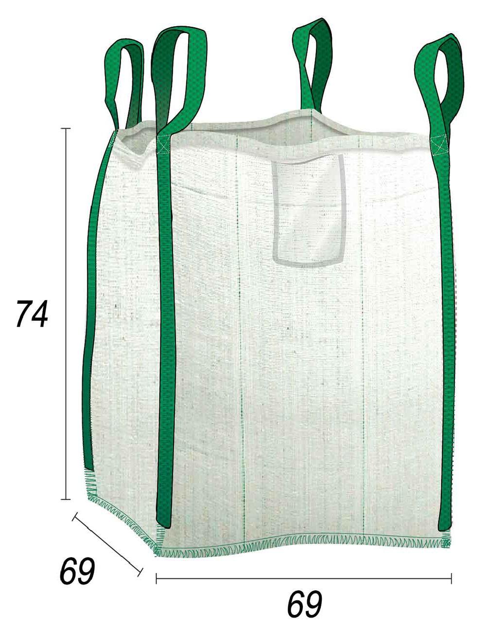 Big Bag Bolsa gravados media tonelada - 69X69X74