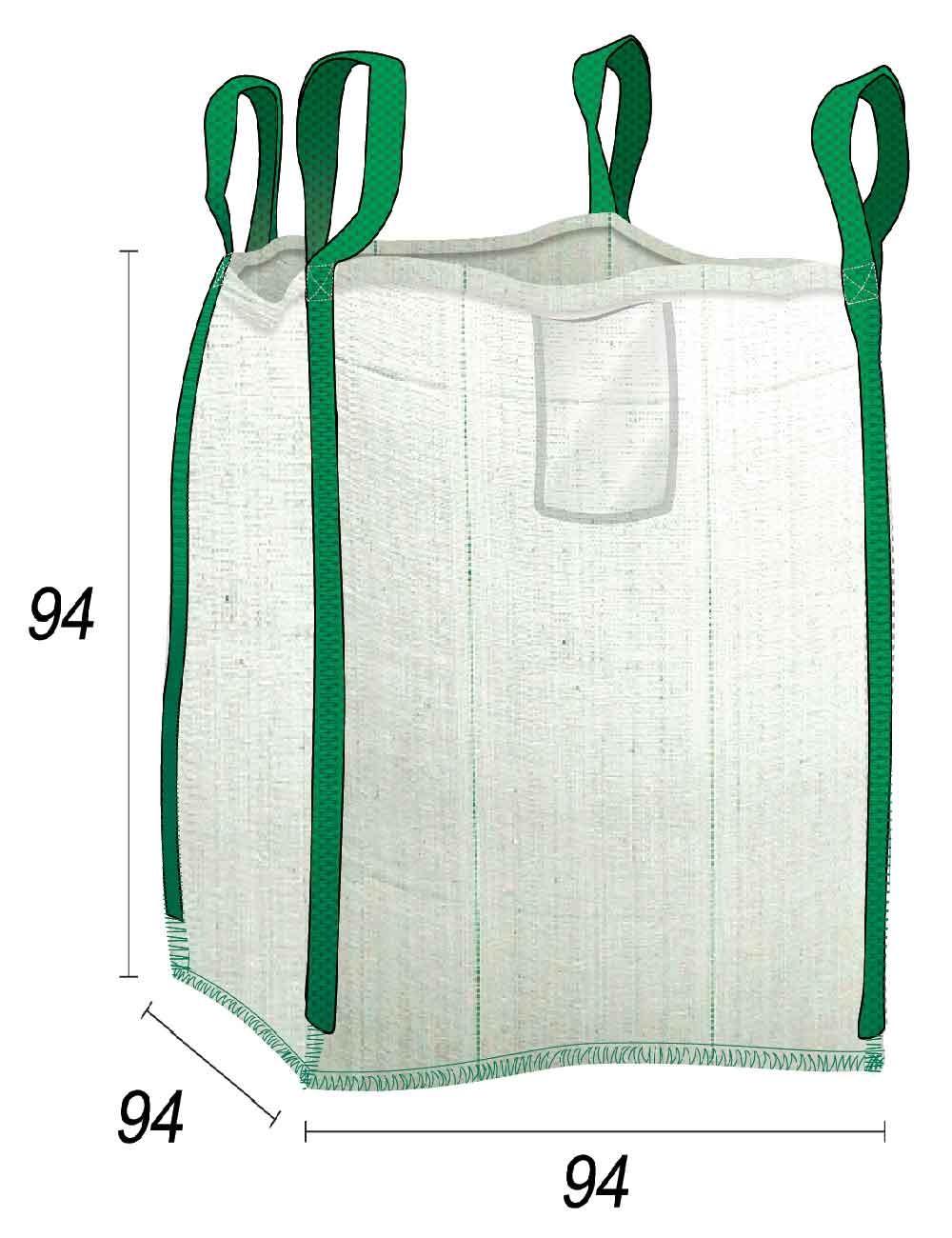 Big Bag Residuos de Jardín y Bricolaje - 94X94X94