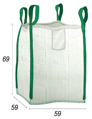 Big Bag Residuos doméstico - 59X59X69
