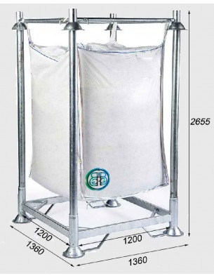 Armadura soporte reforzada para Big Bag  - Altura total 2655