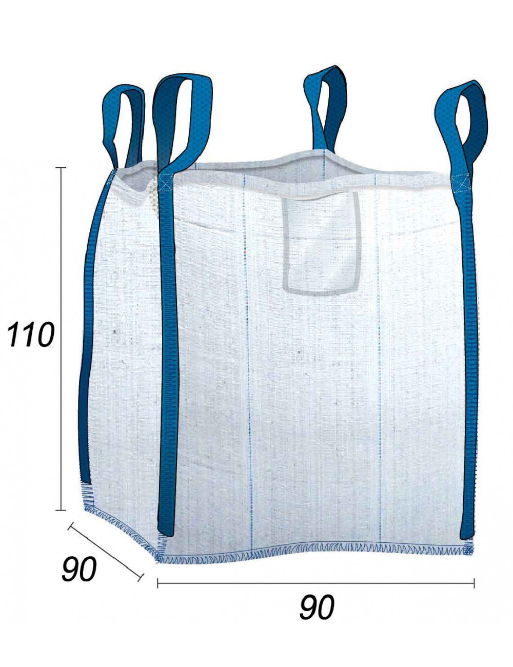 Big Bag Almacenamiento Madera y Virutas - 90X90X110