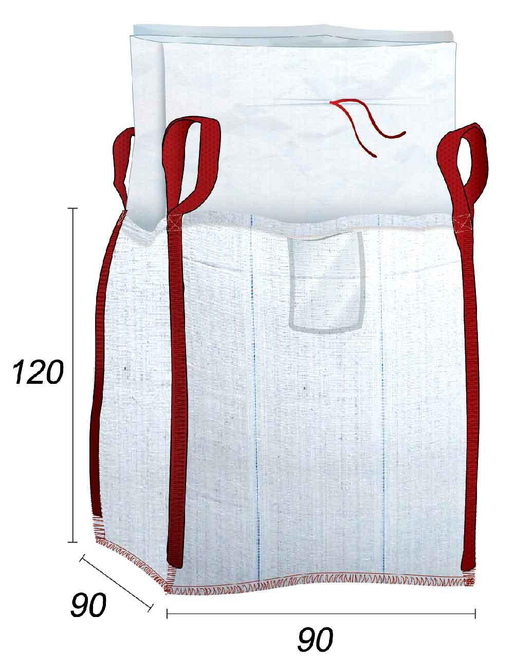 Big Bag Impermeable - Almacenamiento de polvos y suciedad - 90X90X120