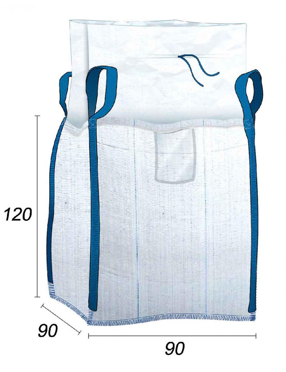 Big Bag Hermético con tela laminada - 90X90X120