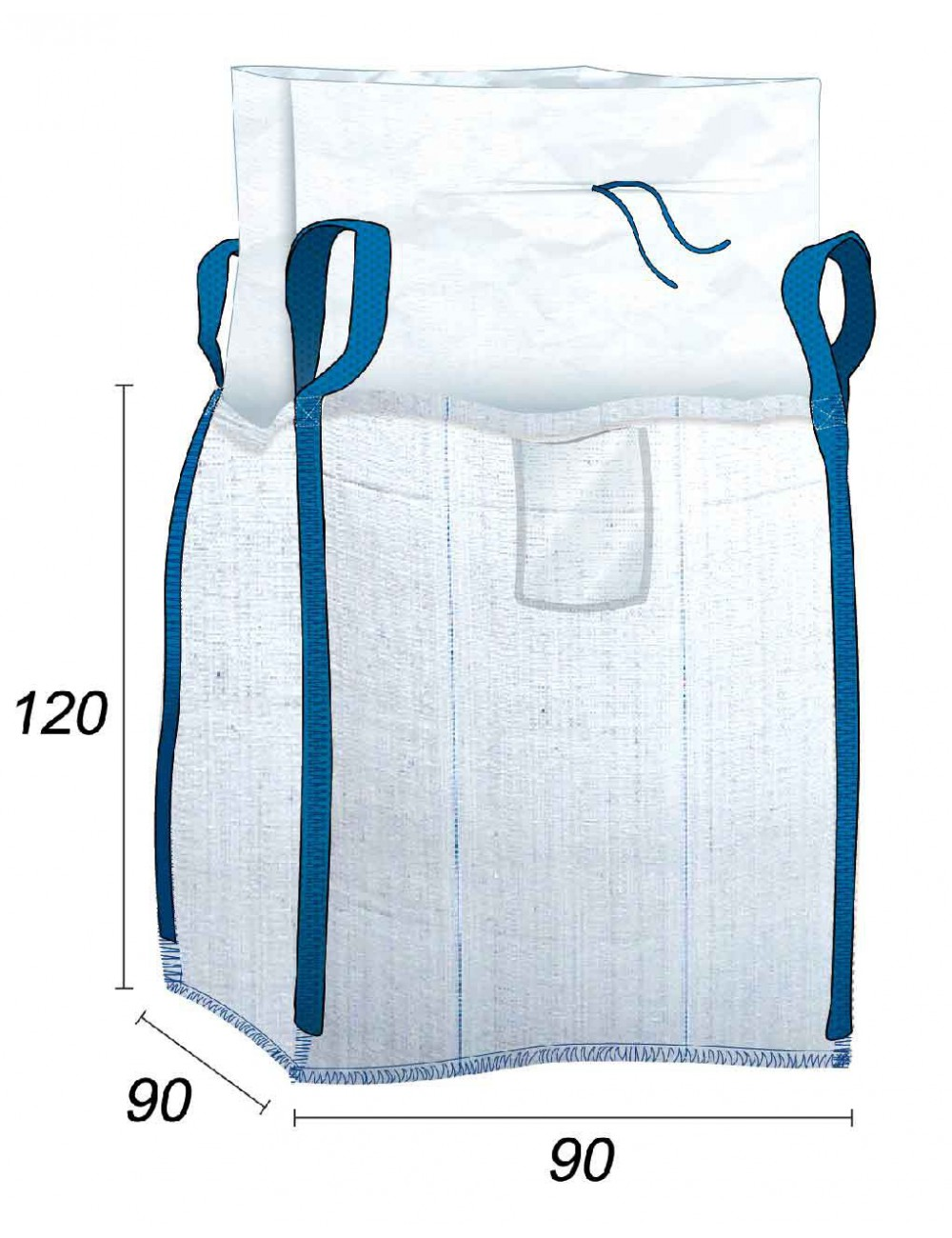 Big Bag hermético con costura antifugas - 90X90X120