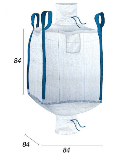 Big Bag Obra con tolva - 84X84X84