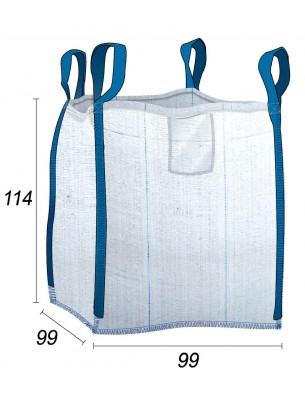 Big Bag Ventilado para cortezas y plaquetas de madera - 99X99X114