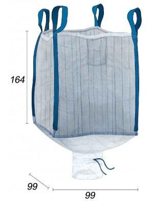 Big Bag Cortezas de madera ventilado 1,5m3 - 99X99X164