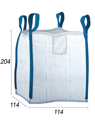 Big Bag bolsa de obra 1,5 toneladas - 114X114X204