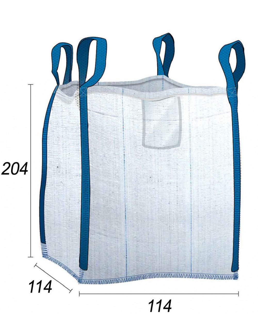 Big Bag 2 toneladas productos pesados - 114X114X204