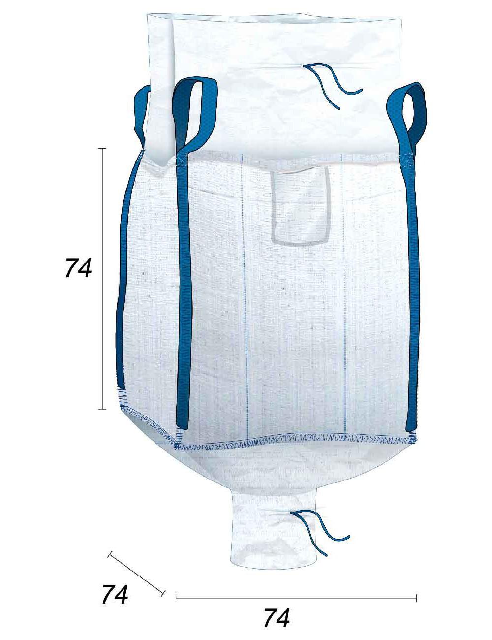 Big Bag Impermeable con costura antifugas - 74X74X74
