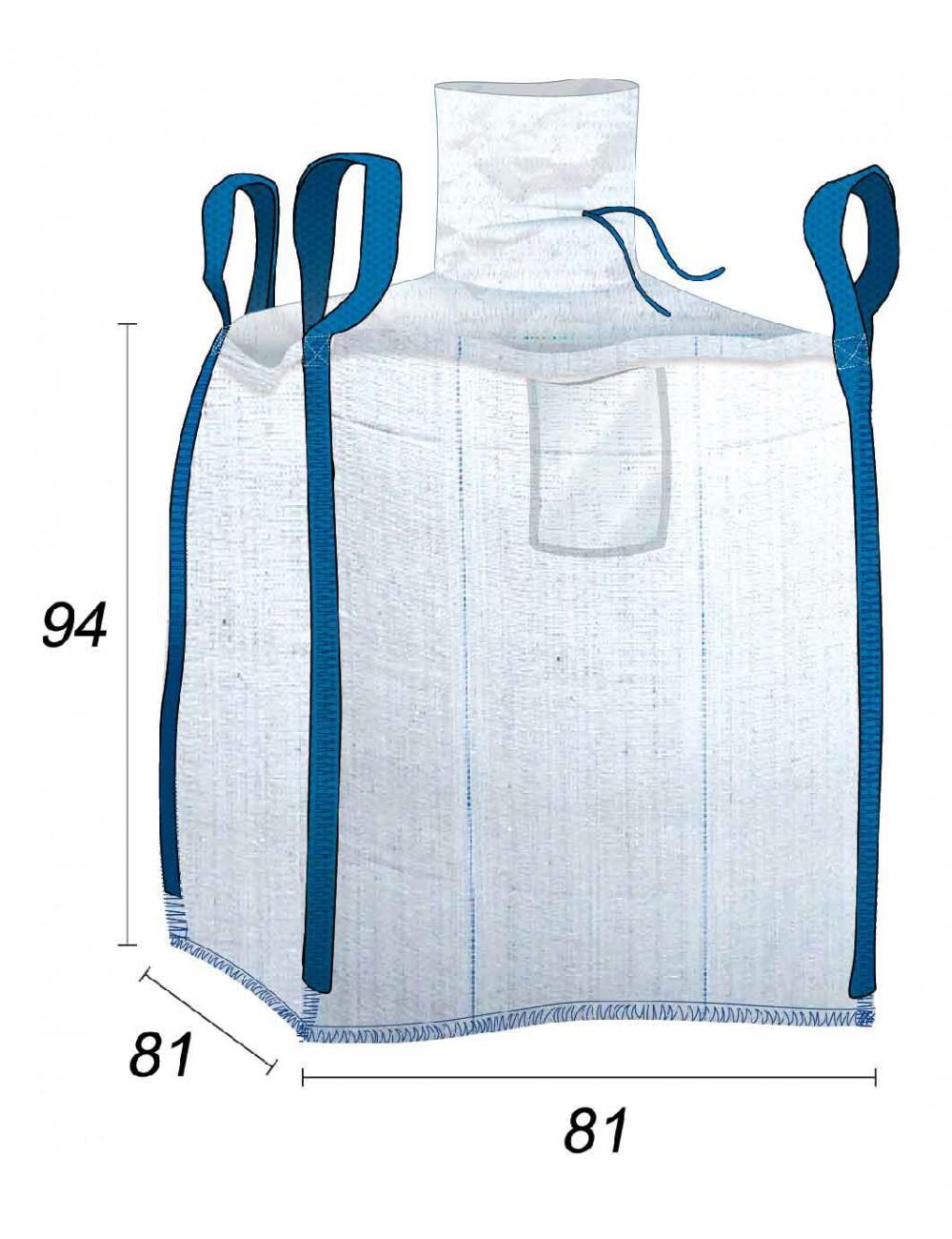 Big Bag Laminado 100% Impermeable 500 litros - 81X81X94