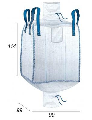 Big Bag Conforme Alimentario 1000 Litros - 99X99X114