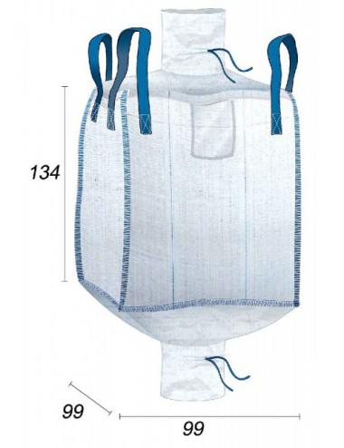 Big Bag Alimentario cinchas cruzadas - 99X99X134