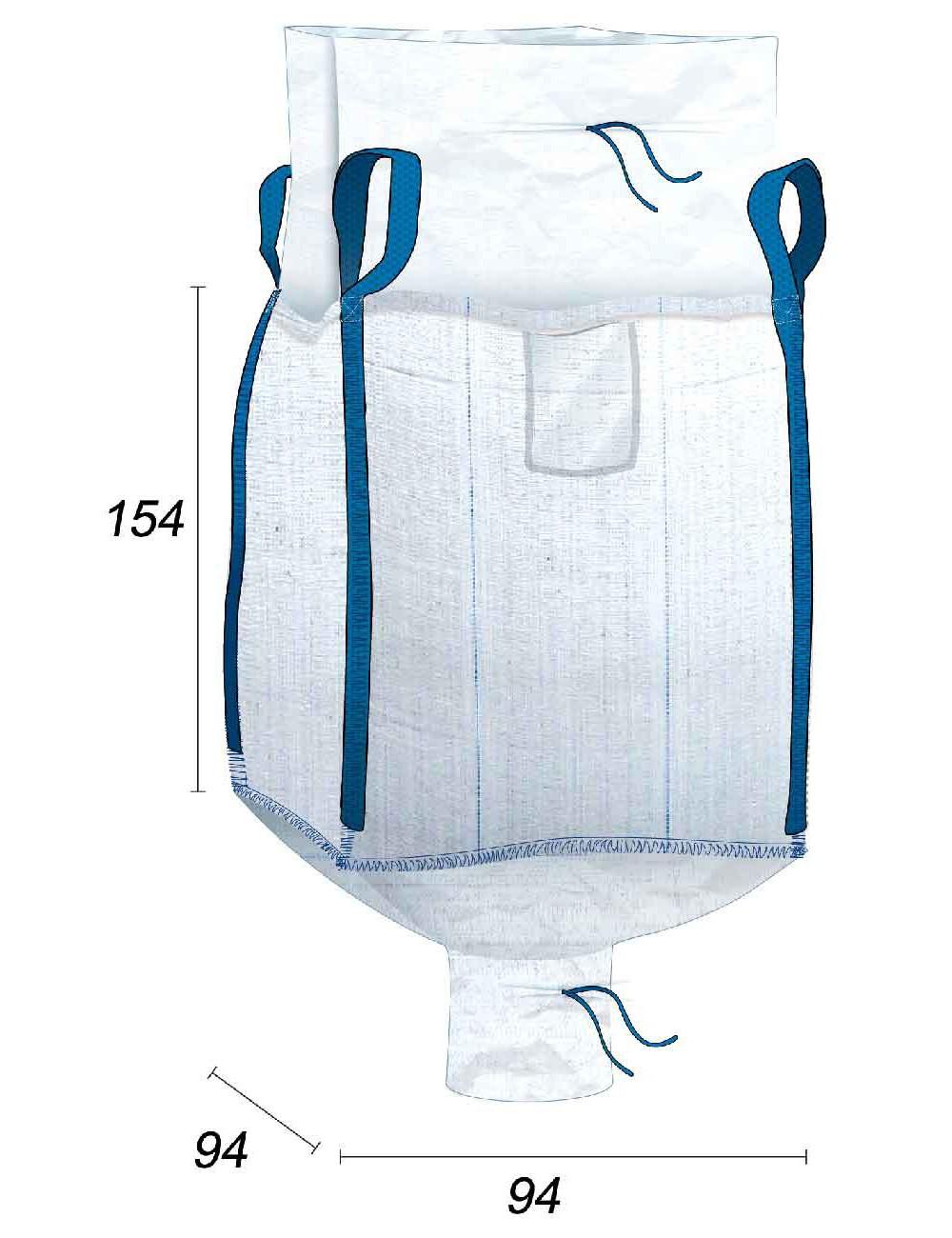 Big Bag Alimentario 1250 litros Impermeable - 94X94X154