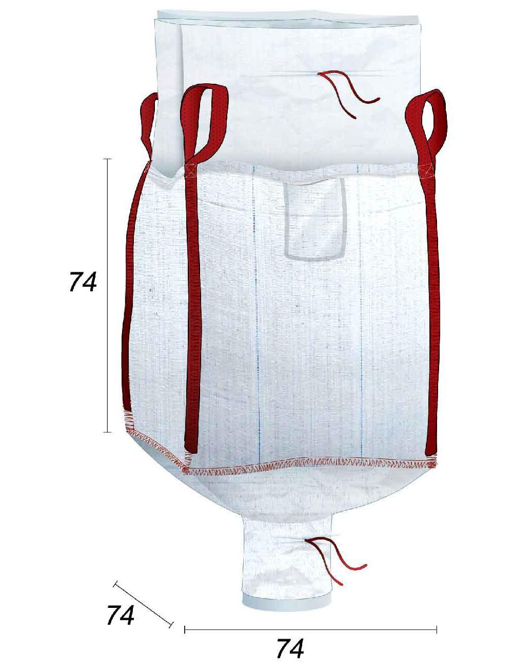 Big Bag  + forro 70µ - 74X74X74