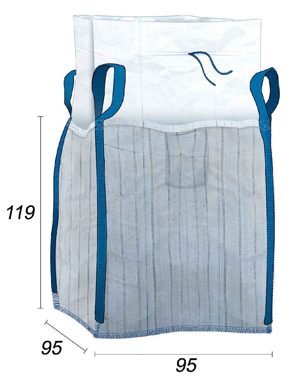Big Bag con bandas ventiladas  - 95X95X119