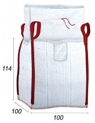 Big Bag doblado con bolsa 70µ - 100X100X114
