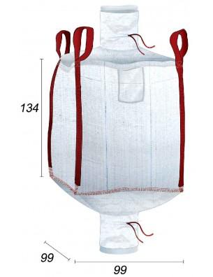 Big Bag con forro 70µ - 99X99X134
