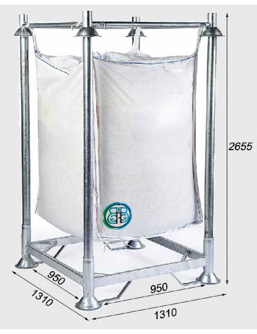Soportes para Big Bag grande altura con base cerrada - Altura total 2655