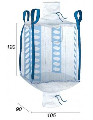 Qbag Tela ventilada para el almacenamiento de madera - 90X105X190