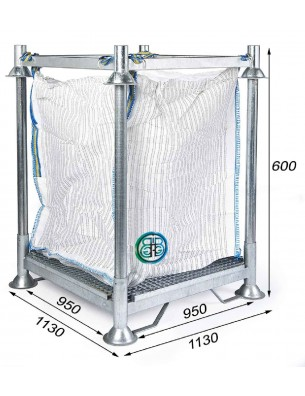 Marco soporte para Big Bag filtración - Altura total 600