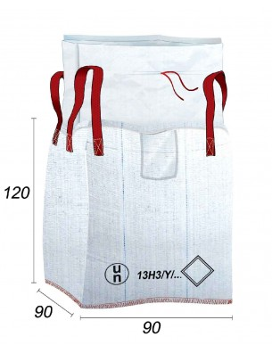 Big Bag Reglamentado UN 13H3Y, bolsa libre - 90X90X120