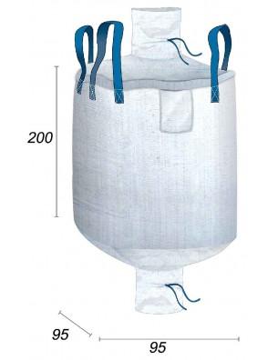 Big Bag Vacío carga útil 1 250 kg - 95X95X200