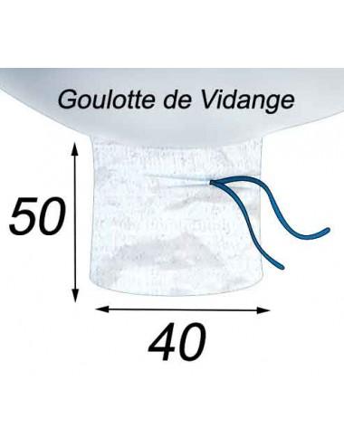 Big Bag Doublé pour les déchets de verre Goulotte de Vidange 40x50