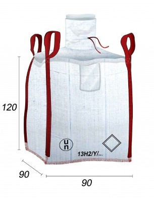 Big Bag Impermeable, Costura antifugas - 90X90X120