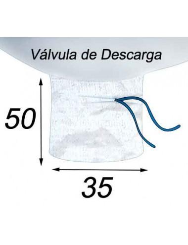 Big Bag Tierra y arena - 90X90X100  Válvula de Descarga 35X50
