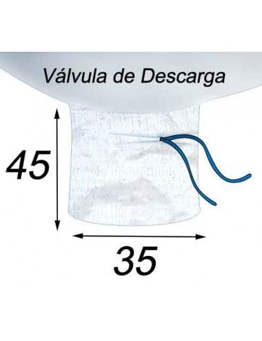 Big Bag Capacidad de 1.25 m3 - 99X99X144  Válvula de Descarga 35X45