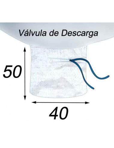 Big Bag Alimentario 1500 litros Impermeable - 99X99X164  Válvula de Descarga 40X50