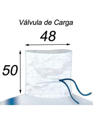 Big Bag con forro 70µ - 97X97X204  Válvula de Carga 48X50